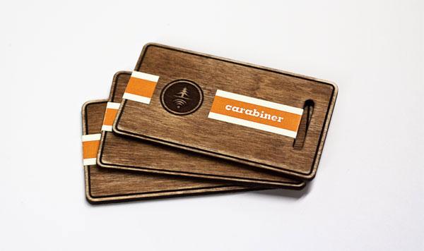 Houten visitekaartje