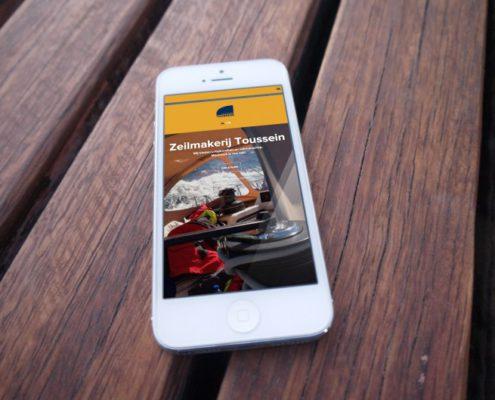 Responsieve website voor Zeilmakerij Toussein uit Brugge