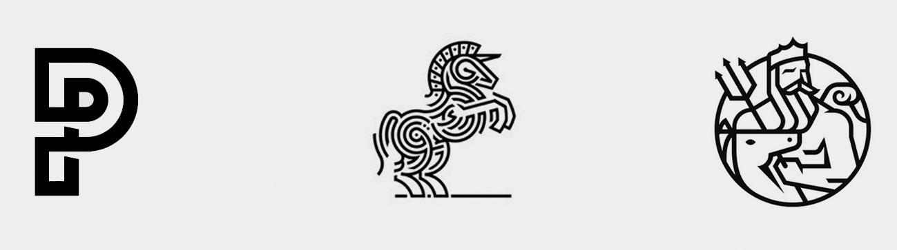 Lijnwerk in logo's