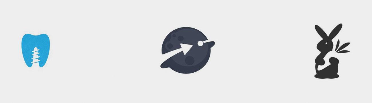 Negatieve ruimtes in logo's