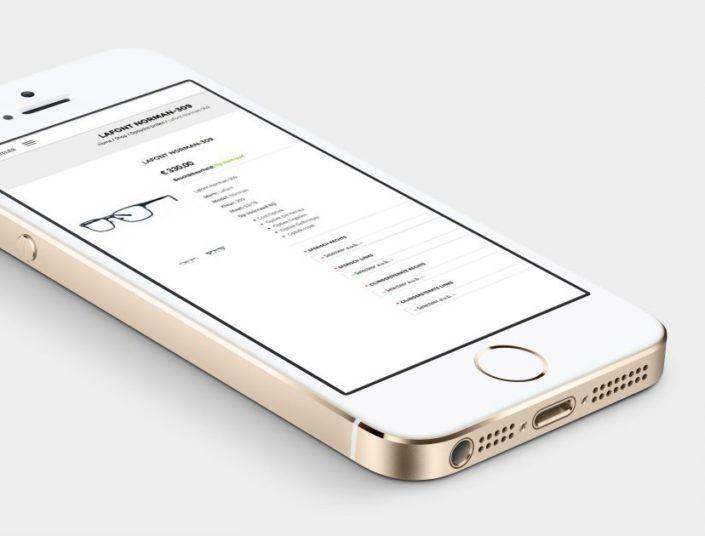 brilatelier webshop op iphone