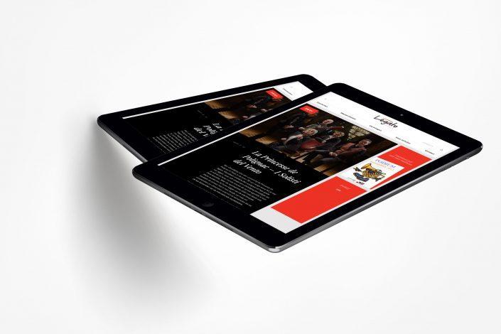 Legato website ipads
