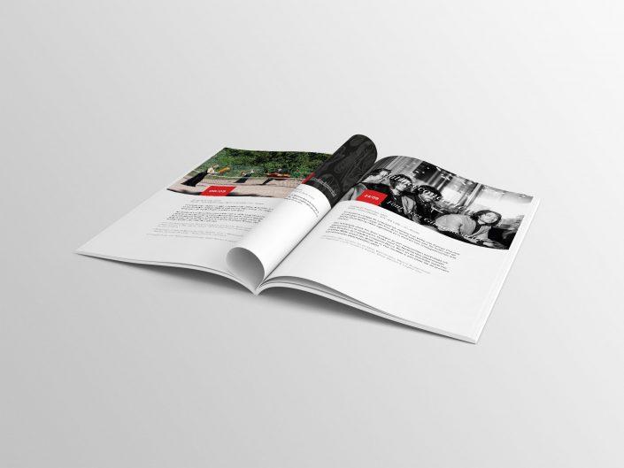 Een gedrukte brochure