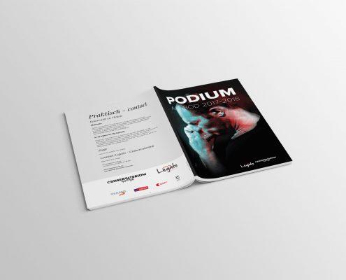 Mooie cover van een brochure