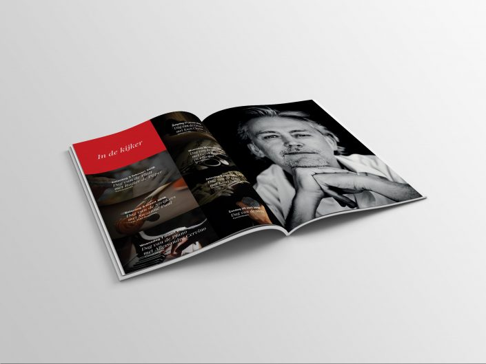 Brochure in druk